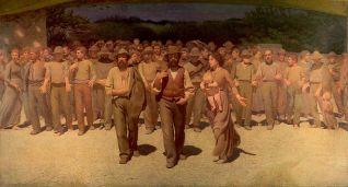 """Τζουζέπε Πελίτσα ντε Βολπέντο, """"H πορεία των εργατών"""", 1901"""
