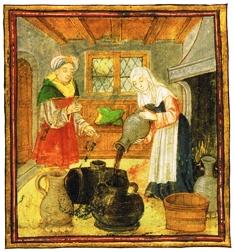 """Πηγή: Maggie Black, """"The medieval cookbook"""". British Museum Press, 1992"""