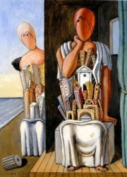 Τζόρτζιο ντε Κίρικο, «Μυστήριος διάλογος», 1973