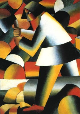"""Κάζιμιρ Μάλεβιτς, """"Ο ξυλοκόπος"""", 1912"""