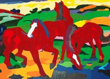 """Φραντς Μαρκ, """"Κόκκινα άλογα"""""""