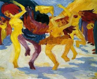 """Έμιλ Νόλντε, """"Χορός γύρω από το χρυσό μοσχάρι"""""""