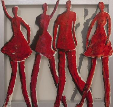 """Xέστερ βαν Ντάπερεν, """"Τέσσερις χορευτές στα κόκκινα"""""""