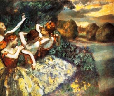 """Εντγκάρ Ντεγκά, """"Τέσσερις χορεύτριες"""", 1900"""