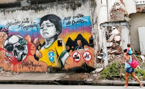 Γκράφιτι εναντίον της FIFA, Βραζιλία 2014 (πηγή: www.imgur.com)