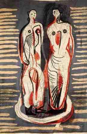Χένρι Μουρ, «Δύο όρθιες μορφές», 1949