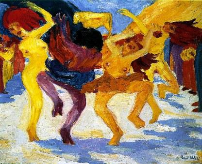 """Έμιλ Νόλντε, """"Χορός γύρω από το χρυσό μοσχάρι"""", 1910"""