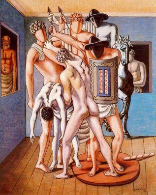 Τζόρτζιο ντε Κίρικο, «Σχολή μονομάχων», 1953