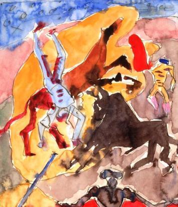 Αντρέ Μασόν, «Σπουδή για ξεκοιλιασμένα άλογα», 1934-1935