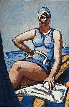 Μαξ Μπέκμαν, «Η Κάθυ, ντυμένη στα γαλάζια, μέσα σε μια βάρκα», 1926