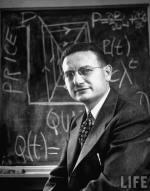 Ο Πωλ Σάμουελσον διδάσκει στο Τμήμα Οικονο- μικών του ΜΙΤ, τον Δεκέμβριο του 1950.
