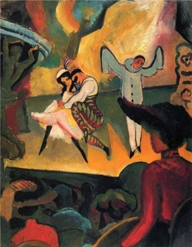 """August Macke """"Ballet Russes""""  , 1912"""