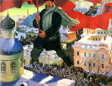 Μπόρις Κουστόντιεφ, «Ο μπολσεβίκος» (1920)