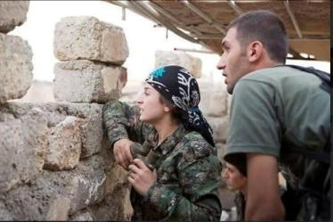 H στρατιωτική αρχηγός των δυνάμεων της YPG, Ναλίν Αφρίν