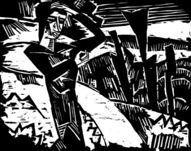 Καρλ Σμιντ-Ρότλουφ, «Γυναίκα στους αμμόλοφους», 1914