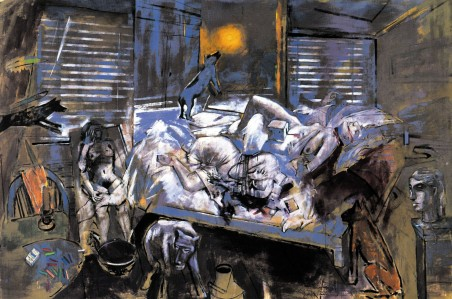 Kυριάκος Κατζουράκης, «Μεσημέρι του Otto Dix στην Αθήνα». Από το λεύκωμα «Ο δρόμος προς τη Δύση. Η περιπέτεια της μετανάστευσης με ζωγραφική, κείμενα και ντοκουμέντα», Μεταίχμιο, Αθήνα 2001.