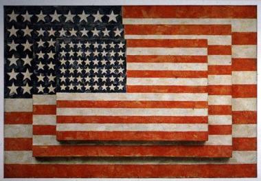 Τζάσπερ Τζονς, «Τρεις σημαίες», 1958