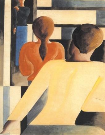 Όσκαρ Σλέμερ, «Κοκκινο-γαλαζιο-κίτρινο πεδίο», 1931
