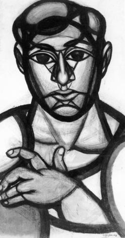 Στέλιος Αναστασιάδης, «Ο τουρκάκος», 1964 (από το λεύκωμα των Πανεπιστη- μιακών Εκδόσεων Κρήτης «Στέλιος Ανα- στασιάδης»)