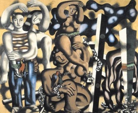 Φερνάν Λεζέ, «Σύνθεση με δύο παπαγάλους», 1935-1939
