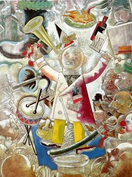 Τζωρτζ Γκρος, «Ο προπαγανδιστής» (αλληγορία για τον Χίτλερ), 1928