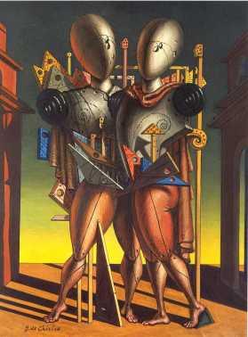 Τζόρτζιο ντε Κίρικο, «Έκτορας και Ανδρομάχη», 1975