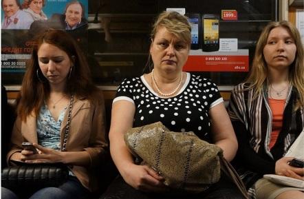 Κίεβο, στο μετρό. Φωτογραφία του Kaykanat, από το flickr
