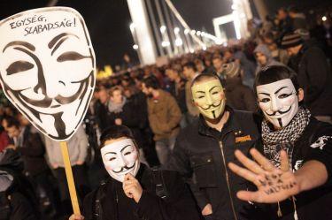 Βουδαπέστη, Οκτώβριος. Από τις διαδηλώσεις κατά του φόρου στο ίντερνετ