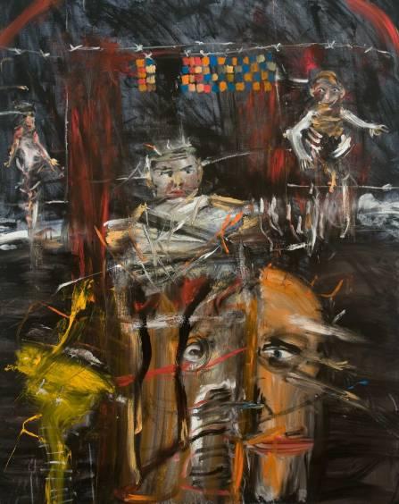 """Έργο του Μίκαελ Χάφτα, από την ενότητα """"Μνήμη του Ολοκαυτώματος"""""""