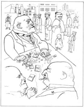 Χαρακτικό του Τζωρτζ Γκρος, από το έργο του «Το πρόσωπο της άρχουσας τάξης»