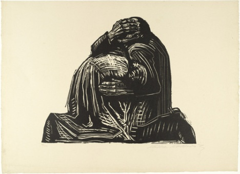 Kathe Kollwitz - The Parents , Χαρακτικό (1922)