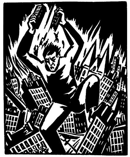 Χαρακτικό του Φρανς Μασερεέλ, από το λεύκωμα «Das Werk», 1928