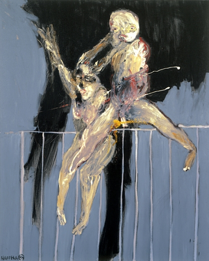 "Michael Hafftka ""Two Figures Jumping"" (1984)"