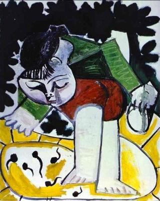 """Πάμπλο Πικάσο """"H Παλόμα παίζοντας με τους γυρίνους"""" (1954)."""