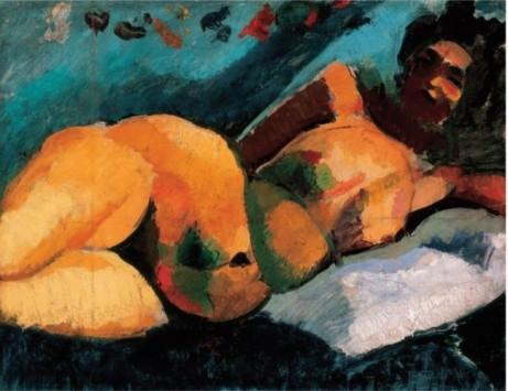 Ρόμπερτ Μπερένυ, «Γυναικείο γυμνό στο κρεβάτι» (λεπτομέρεια), 1907