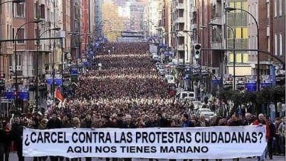 Φυλάκιση ενάντια στις διαμαρτυρίες των πολιτών; Εδώ είμαστε Μαριάνο!