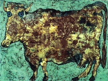 """Jean Dubuffet """"The Cow With The Subtle Nose"""", (1954)"""
