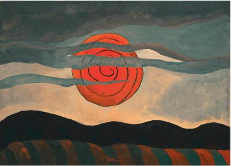 """Άρθουρ Ντόουβ, """"Κόκκινος ήλιος"""", 1935"""