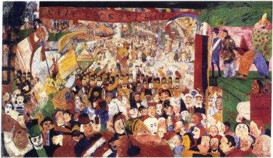 """James Ensor """"Christ's Entry Into Brussels in 1889"""""""
