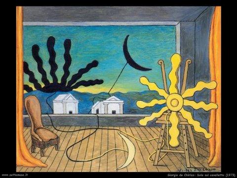 Τζόρτζιο ντε Κίρικο, «Ήλιος στο καβαλέτο», 1973