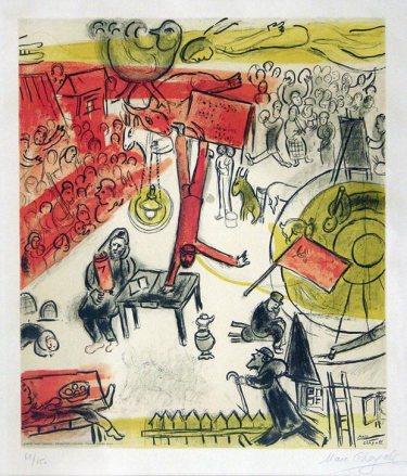 Μαρκ Σαγκάλ, «Επανάσταση», 1937