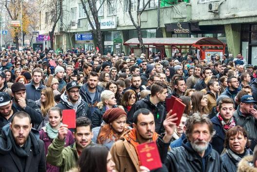Φοιτητική διαδήλωση, Σκόπια, Δεκέμβριος