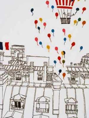 Mori Shizume,  «Balloon Flight over Paris»,  π. 1980