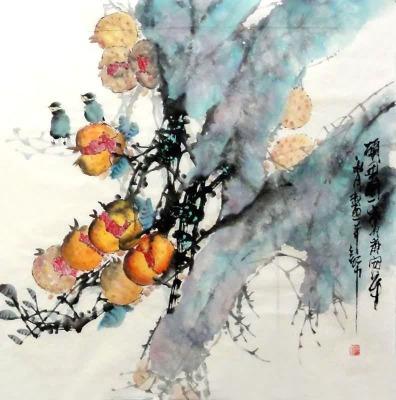 Έργο του Ζανγκ Μπο, σύγχρονου κινέζου ζωγράφου