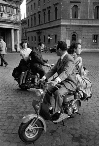 Ρώμη, δεκαετία του 1950. Φωτογραφία του Jacques Rouchon