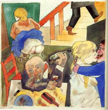 Τζωρτζ Γκρος, «Νάιτ κλαμπ στο Βερολίνο», 1922