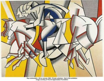 Ρόι Λιχτενστάιν, «Κόκκινος καβαλάρης», 1974