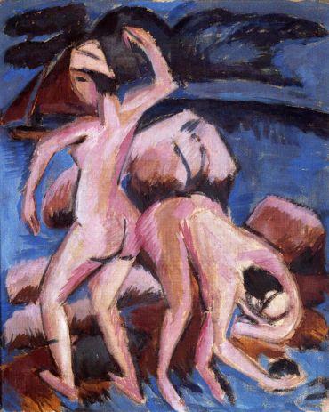 Ερνστ Λούντβιχ Κίρχνερ, «Δύο λουόμενες», 1912