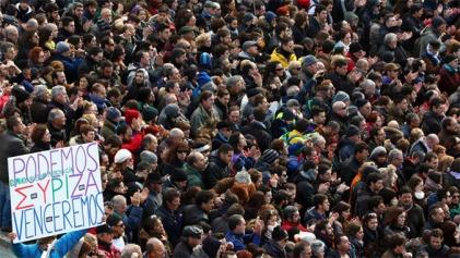 Από την συγκέντρωση του Podemos στην Μαδρίτη την 31.01.2015