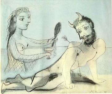 Πάμπλο Πικάκο, «Ένα κορίτσι βοηθάει τον Μινώταυρο», 1906